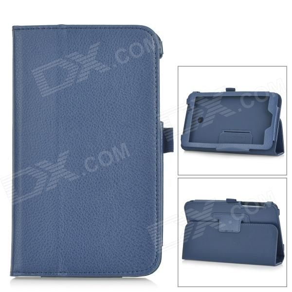 Lichee Pattern PU Leather Full Body Case w/ Stand for Asus FonePad 7 FE170CG - Deep Blue magnet stand leather case cover for asus fonepad 7 fe375cg fe375cxg fe7530cxg fe375 k019 tablet case screen protectors stylus