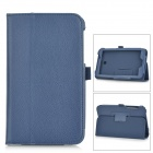 Lichee Pattern PU Leather Full Body Case w/ Stand for Asus FonePad 7 FE170CG - Deep Blue
