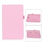 Lichee Pattern PU Leather Full Body Case for Samsung Galaxy Tab S Super T700 / T701 / T705 - Pink