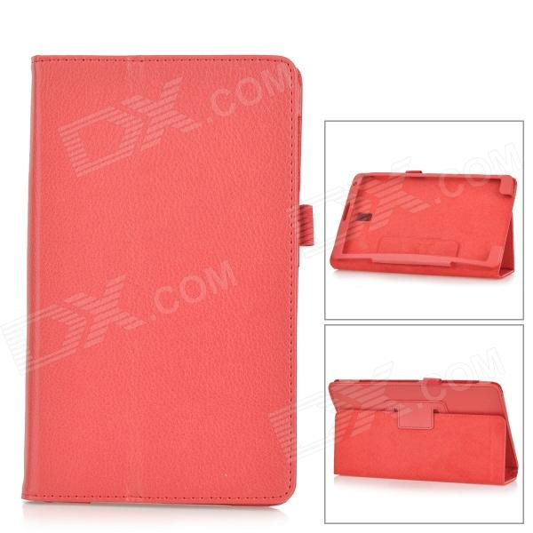 Lichee Pattern PU Leather Full Body Case for Samsung Galaxy Tab S Super T700 / T701 / T705 - Red