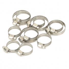 AD12 Handy Stainless Steel Gardening Hose Clamps Set - Silvery Grey