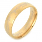 Ring-to-rule-them-all 316L Stainless Steel Ring - Golden (Size 11)