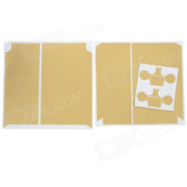 Protective PVC Sticker for PS4 - Beige + White
