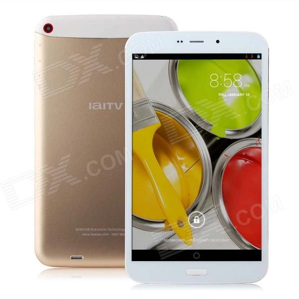 IaITV M861 8.0 IPS Android 4.2.2 Quad-Core 3G Tablet PC w/ 1GB RAM, 8GB ROM, Bluetooth, GPS sosoon x88 quad core 8 ips android 4 4 tablet pc w 1gb ram 8gb rom hdmi gps bluetooth white