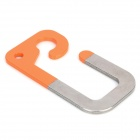 EDC Gear Outdoor vuorikiipeily Stainless Steel Quick Release Hook - Orange + hopea