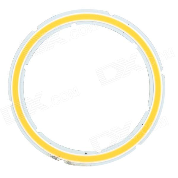 JRLED 12W 1000lm 3200K 44-COB LED Warm White Light Module - Silver + Fluorescent Yellow (DC 12V)