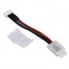 DIY F2 Li-ion Battery Charger Extension Cable w/ Protective Cover for R/C Aircrafts - Black + White