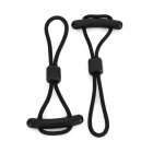 EDCGEAR U22-3 Outdoor Sports Nylon Anti-theft Zipper Tail Chain Cord / Rope - Black (2 PCS)