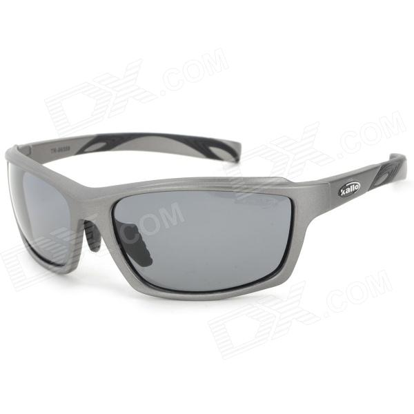 KALLO 99358 Resin Lens TR90 Frame UV400 Protection Polarized Sports Sunglasses - Deep Grey + BlackSport Goggles <br>Suitable for driving fishing mountaineering and other outdoor sports<br>