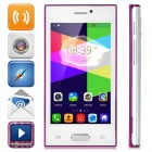 "Z9005 Android 4.4 Dual-core WCDMA Bar Phone w/ 4.0"" Screen, Wi-Fi and GPS - White + Purple"
