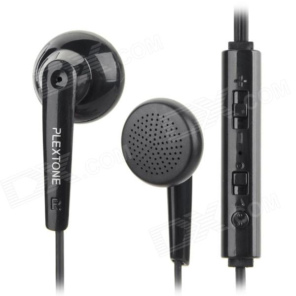 3.5mm In-Ear Style Bass Headphone for Mobile Phone - Black (120cm)