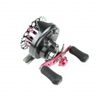 YingLaiTe LP/M60 Aluminum Alloy Front Drag Spinning Fishing Reel - Grey + Deep Pink