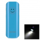 YD332 Universal 2600mAh External Li-ion Battery Power Bank w/ LED Flashlight + Adapters - Blue