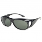 Fashionable Plastic Frame Rein Lens UV400 Protection Sunglasses - Black