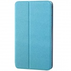 "Protective PU Leather Case Cover Stand for 8.0"" Samsung Galaxy Tab 4 T330 - Sky Blue"