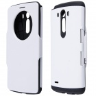 Hotsale PC + Silicone Flip-Open Case w/ Air Cushion, Auto Sleep for LG G3 - White