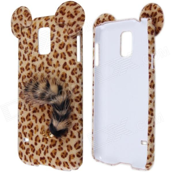 Sexy Leopard Print Pattern Protective Plastic Back Case w/ Tail for Samsung Galaxy S5 leopard print pattern protective plastic back case w tail for samsung galaxy s4 i9500 deep pink