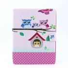 Owls Family Pattern PU Leather Full Body Case with Stand for IPAD 2 / 3 / 4