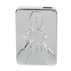 Windproof Aluminum Alloy USB Rechargeable Lighter - Silver (5V)