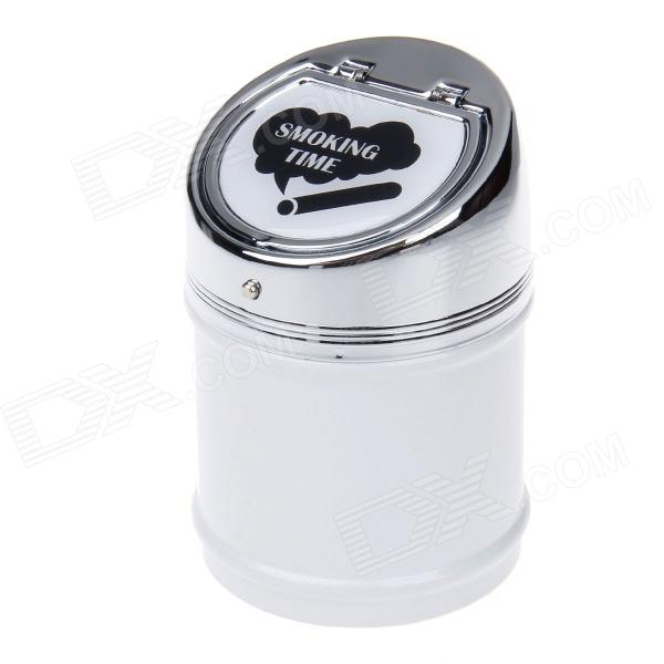 635BCD-2 Zinc Alloy Spring Lid Ashtray - Silver + White + Black ashtray
