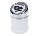 635BCD-2 Zinc Alloy Spring Lid Ashtray - Silver + White + Black