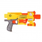 Electric Bursts Soft Bullet Toy Gun - Red + Yellow