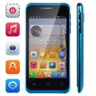 "Tiger S42 Android 4.2.2 Dual-Core WCDMA Bar Phone w/ 4.0"" Screen, Bluetooth, Dual-Camera, GPS - Blue"