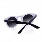SYS0088 Classic Round Small Lens Ultralight PC Sunglasses / Myopic Glasses Frame - Black + White