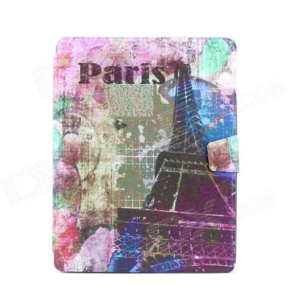 Eiffel Tower Pattern Pattern PU Leather Full Body Case with Stand for IPAD 2 / 3 / 4 22030114m rotatable statue of liberty pattern pu leather case for ipad 2 3 4 multicolored