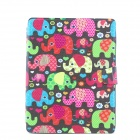 Colorful Elephants Pattern PU Leather Full Body Case with Stand for IPAD 2 / 3 / 4