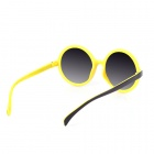 SYS0091 Classic Small Lens Ultralight PC Sunglasses / Myopic Glasses Frame - Black + Yellow