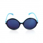 SYS0088 Classic Small Lens Ultralight PC Sunglasses / Myopic Glasses Frame - Black + Blue
