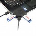 IOCREST SI-HUB50066 High Speed 2-Port USB 3.0 HUB w/ SD Card Reader - Black