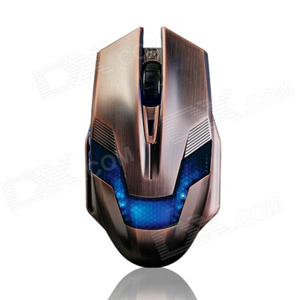 Ajazz USB Wired Gaming 6-Button 800 / 1200 / 2000DPI Mouse - Bronze (Cable-170cm) от DX.com INT