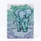 Elephant Pattern PU Leather Full Body Case with Stand for IPAD 2 / 3 / 4