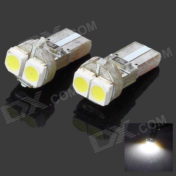 0.1W T5 2*1210 Vehicle Decoration/Signal White Lamp Bulbs (DC 12V/2-Pack)