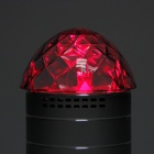 2031Q Portable Mini Crystal RGB Light Speaker w/ TF Slot - Black + Sivler + Transparent