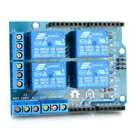 5V 4-Channel Relay Control Shield Module for Arduino - Deep Blue