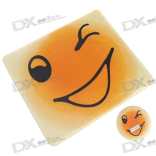 Cute Smiling Face Mouse Pad with Screen/Glass Cleaning Set (Assorted)