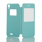 DOOGEE Protective PU Leather + Plastic Flip Open Case Cover for Valencia DG800 - Light Blue