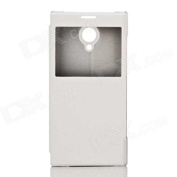 DOOGEE Protective PU Leather + Plastic Flip Open Case Cover for DOOGEE DAGGER DG550 - White от DX.com INT