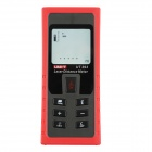 "UNI-T UT393 Professional 2.1"" LCD Laser Distance Meter Rangefinder - Red + Grey (2 x AAA)"