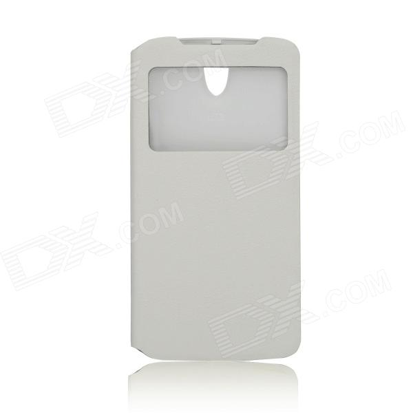 DOOGEE Protective PU Leather + Plastic Flip Open Case Cover for DOOGEE MINT DG330 - White от DX.com INT