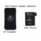 Itian K8 Anti-slip Shell Qi Wireless Charger + Receiver (Samsung Note 3) Set for Cellphone - Black