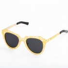 OREKA Stylish Skeleton Frame UV400 Sunglasses - Golden + Black