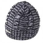 Men's Outdoor Casual Warm Keeping Woolen Yarn Hat Cap -Dark Grey