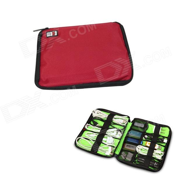 BUBM Portable Digital Accessories Nylon Storage / Organizing Bag - Red (Size S)