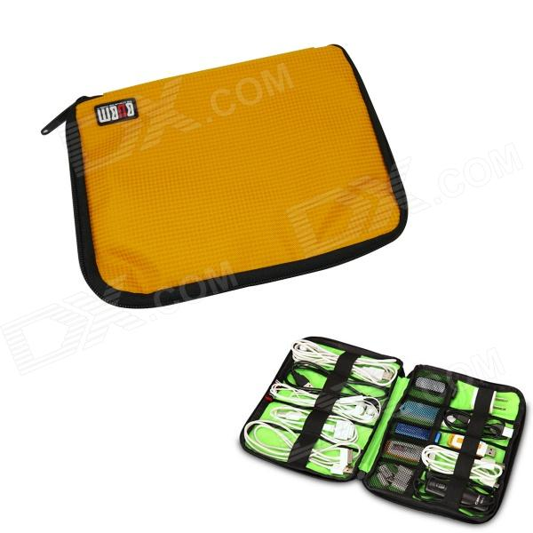 BUBM Portable Digital Accessories Nylon Storage / Organizing Bag - Yellow + Orange (Size S) bubm professional dj bag for pioneer