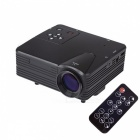 H80 Portable Home Theater LED Projector w/ HDMI / AV / VGA / USB / SD - Black