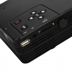 H80 Portable Home Theater LED projektor w / HDMI / AV / VGA / USB / SD - Black